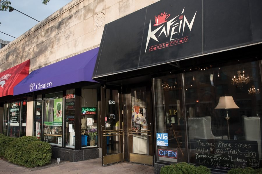 Kafein%2C+1621+Chicago+Ave.+Every+Monday+night%2C+Kafein+holds+an+open+mic+night+with+acts+ranging+from+music+to+stand-up+comedy.+