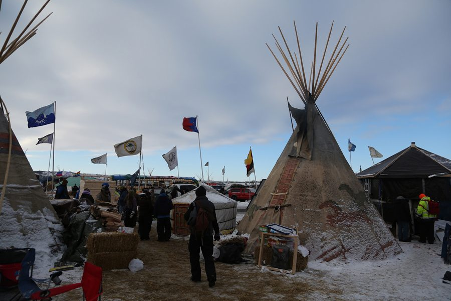 Thousands+of+Native+Americans%2C+veterans+and+environmentalists+created+an+encampment+in+rural+North+Dakota+to+protest+the+proposed+Dakota+Access+oil+pipeline.+Stacy+Leeds%2C+dean+of+the+School+of+Law+at+the+University+of+Arkansas%2C+spoke+about+the+pipeline+conflict+and+other+issues+of+Native+jurisdiction+at+a+Friday+event.