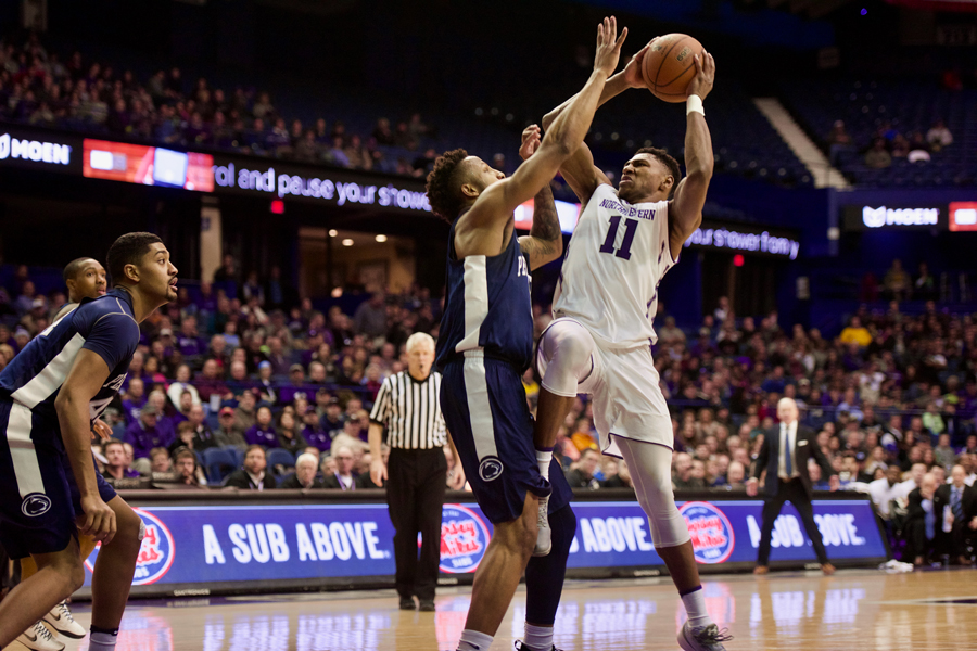 Anthony Gaines drives into the lane. The freshman guard had played only eight minutes and missed his only shot in Thursday's win at Wisconsin.