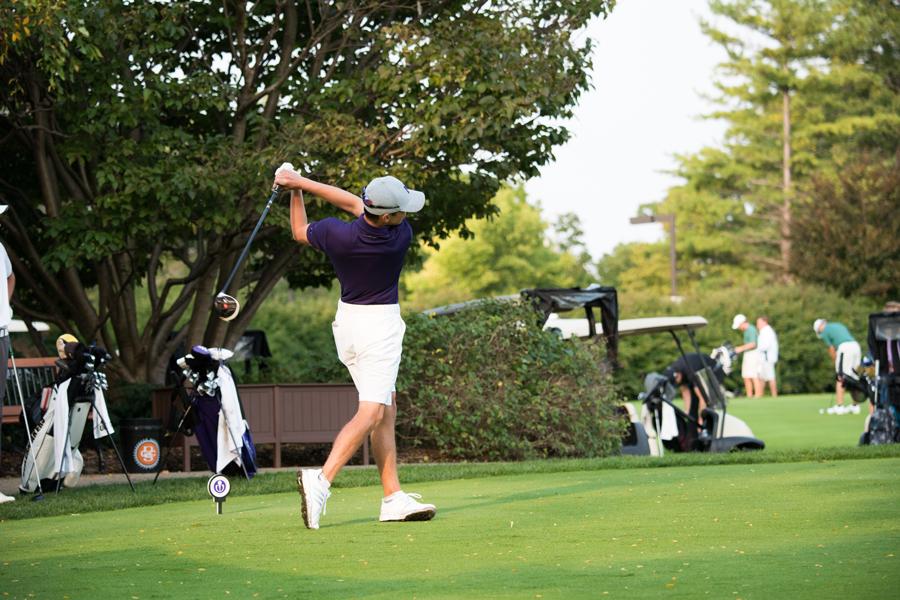 Everton Hawkins tees off. The sophomore and the Wildcats open the winter season at Big Ten Match Play in Florida this weekend.