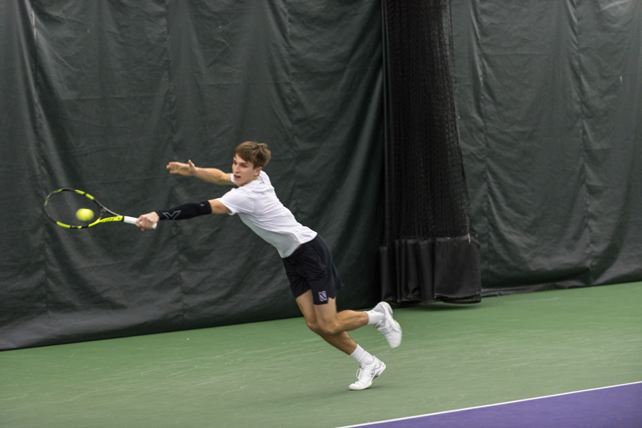 Ben Vandixhorn dives for a backhand. The junior will look to help the Wildcats to their first ranked win of the season.