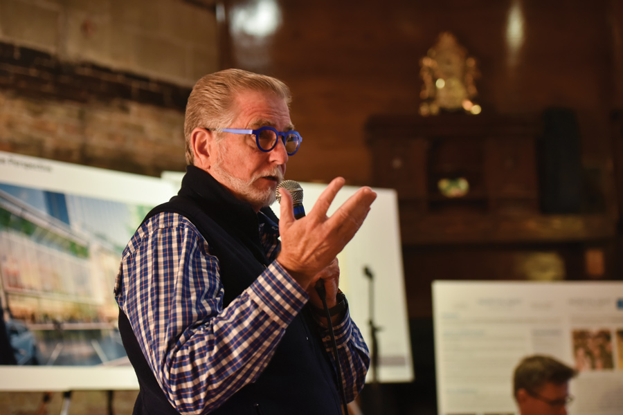 BJ Jones, Northlight Theatre's artistic director, talks about the the proposed project in downtown Evanston. Members of the Economic Development Committee voted to approve an amended resolution concerning the construction of a building that would house the theater.