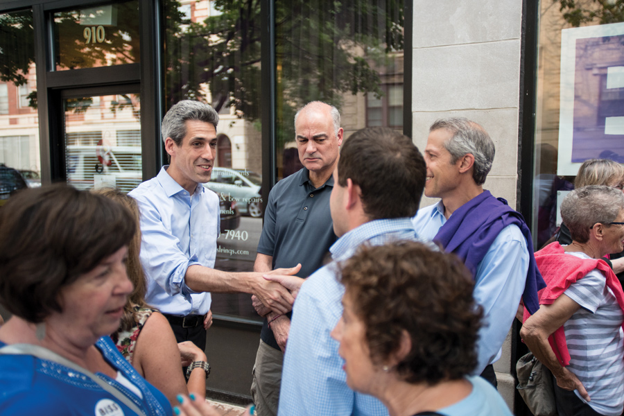 """State Sen. Daniel Biss (D-Evanston) speaks at an event. Biss said in a news release last week that wealthy homeowners """"exploit"""" the system for tax breaks."""