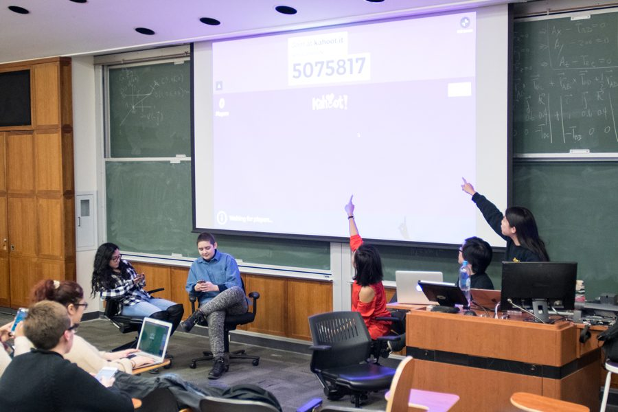 Students attend a Wednesday teach-in hosted by the Latinx Asian American Collective. The Collective exceeded its 1,000-signature goal on a petition to create departments for the Latina and Latino Studies Program and the Asian American Studies Program.