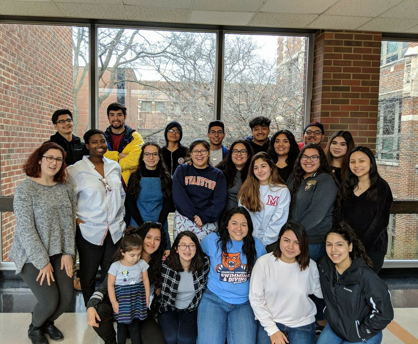 NU and ETHS students prepare for their upcoming Latinx summit. Students conducted research throughout the 2017-2018 school year to present at the summit, which will be held Friday.