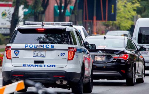 An Evanston Police Department squad car. Evanston police Cmdr. Ryan Glew said a man who was suspected of vehicular burglary was arrested Wednesday morning.