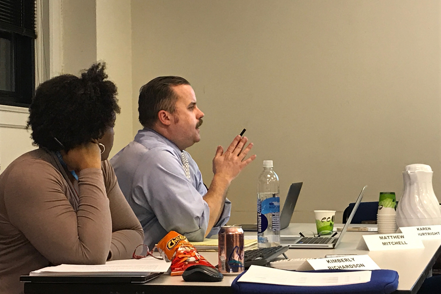 Committee chair Matthew Mitchell discusses Evanston's current police complaint process. The Citizen Police Complaint Assessment Committee will report its recommendations in May.