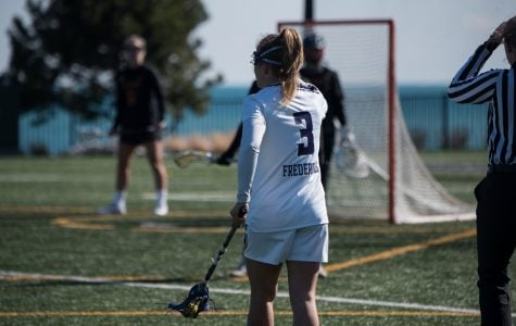 Shelby Fredericks surveys the field. The senior attacker wants the Cats to stick with what they have been doing against Stony Brook.