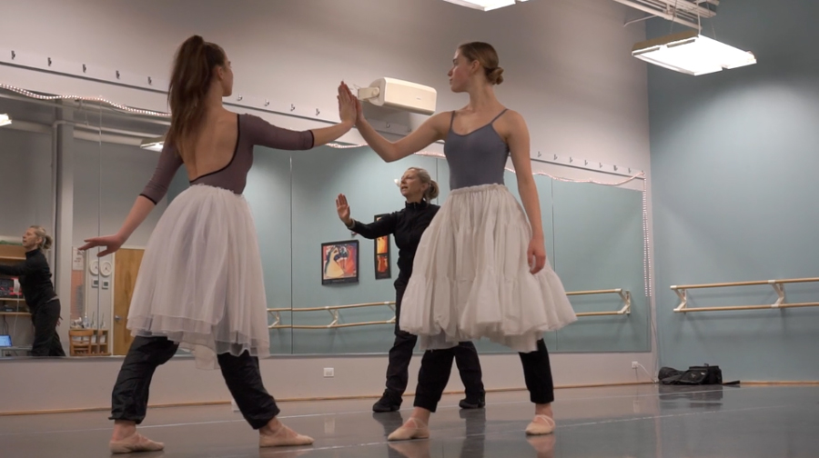 "Evanston Dance Ensemble rehearses for ""A Midsummer Night's Dream."" The world premiere performance will feature a score by Emmy-winning composer Steve Rashid."