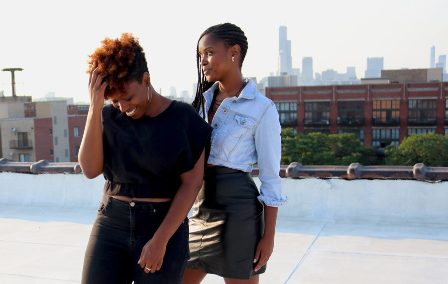 Tiffany Walden and Morgan Elise Johnson. The two co-founded The TRiiBE, an online publication covering black millenials in Chicago, a year ago.