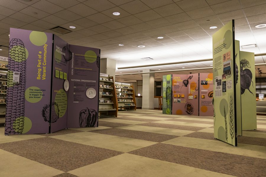 The National Vegetarian Museum's exhibit at the Evanston Public Library. The exhibit will run through April 2.