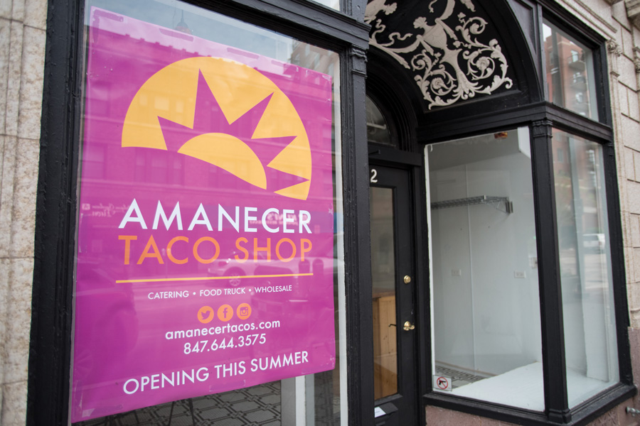 "Amanecer Tacos, 512 Main St. Amanecer co-founder Ana Vela said it was challenging for her to open the restaurant, but the Evanston community has been ""very supportive"" since the opening in November."