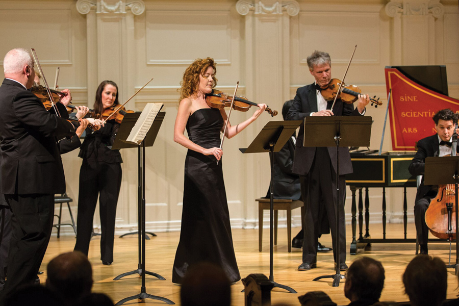 Desirée Ruhstrat performs at a past Bach Week Festival. Ruhstrat will perform Bach's Violin Partita No. 2 at the final concert of this year's Bach Week Festival.