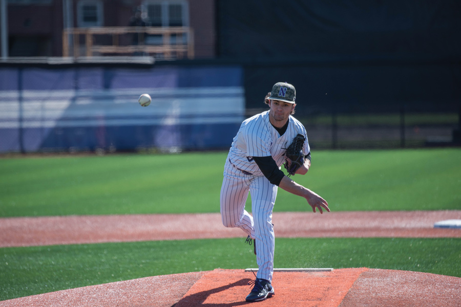 Tommy Bordignon throws a pitch. The senior was one of seven Cats pitchers who combined to post a shutout in Wednesday's win.