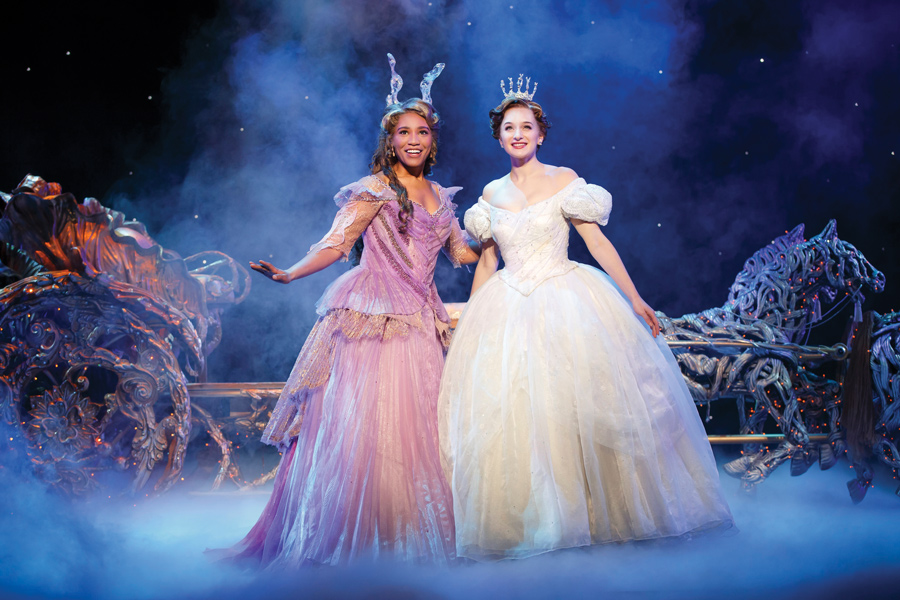 "Alumna Leslie Jackson (left) and Tatyana Lubov in ""Rodgers and Hammerstein's Cinderella."" The show opens Friday at the Cadillac Palace Theatre in Chicago."