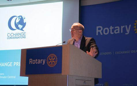 Hagerty talks climate change, sustainability at Rotary International headquarters