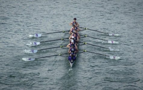 "Northwestern Crew team members row in a competition. The team will head to China later this month for the ""Rowing in Henan"" Zhengzhou International University Rowing Regatta."