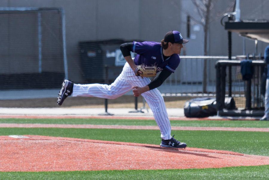 Jack Pagliarni throws another pitch. The freshman and Northwestern's other starters have been relied on heavily this season.