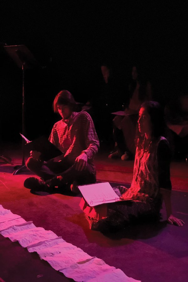 """Students rehearse for Communication junior Simran Bal's adaptation """"Sohni Mahiwal."""" The play is one of three original works that will be featured in Lovers and Madmen's first adaptation festival this weekend."""