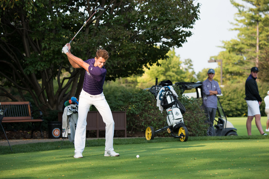 Ryan Lumsden takes a swing. The junior helped Northwestern finish fifth at the Big Ten Championships this year.
