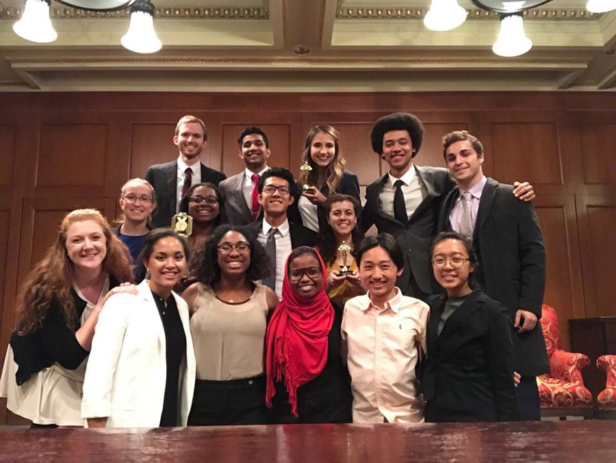 Northwestern University Mock Trial. The team finished in ninth place at National Championships this year.