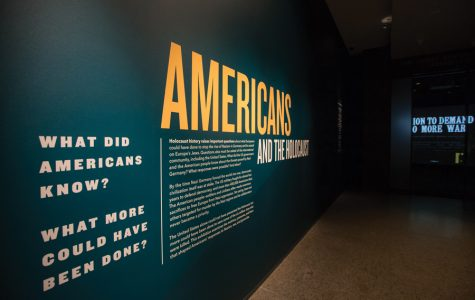 History Prof. Daniel Greene's exhibit at the United States Holocaust Memorial Museum. The exhibit is a portrait of American society during the Holocaust.