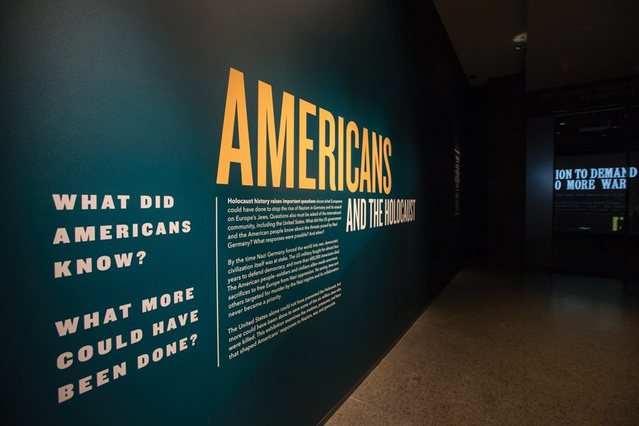 +History+Prof.+Daniel+Greene%E2%80%99s+exhibit+at+the+United+States+Holocaust+Memorial+Museum.+The+exhibit+is+a+portrait+of+American+society+during+the+Holocaust.+