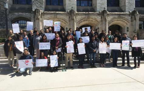 Kellogg students march in protest of sexual violence in India