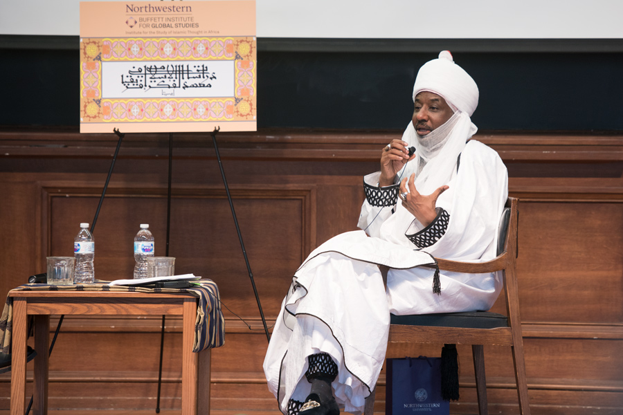 Muhammadu Sanusi II, current Emir of Kano speaks at the Islam in Global Africa conference event. Sanusi discussed the role of Islam in government and the importance of education.