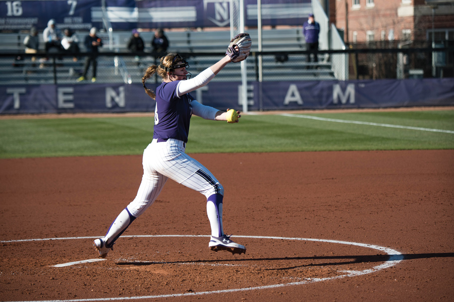 Morgan Newport throws a pitch. The sophomore pitcher hurled a three-hit, 1-run gem in Wednesday's win.