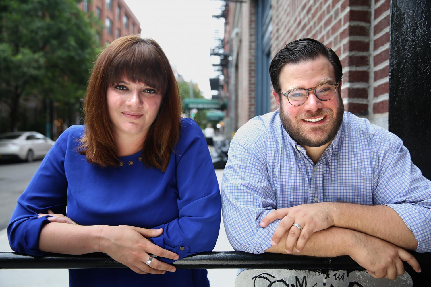 Amanda Litman (left) and Ross Morales Rocketto (right) co-founded the Democratic recruitment group Run for Something. Litman, along with New York Times political correspondent Jonathan Martin, will speak at a Thursday CTSS event.