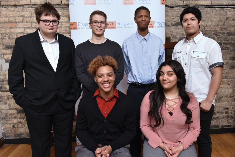 The Work Ethic Program's second cohort. WE Program welcomed seven new juniors and five new seniors from Evanston Township High School on March 22.