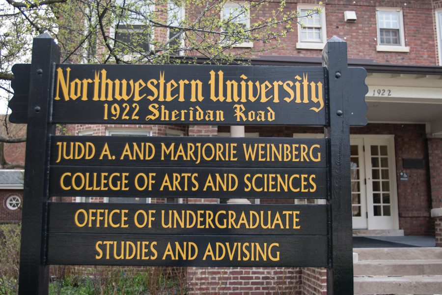 A+sign+outside+Weinberg%E2%80%99s+Office+of+Undergraduate+Studies+and+Advising%2C+1922+Sheridan+Rd.+SESP+junior+Ruthie+Charendoff+established+non-credit+ASL+classes+at+NU+this+quarter.
