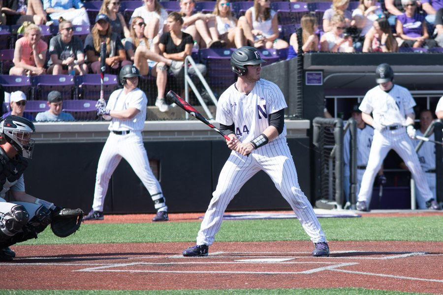 Jack Claeys steps up to bat. The senior will lead the Cats in the first of the final four games of his career against Notre Dame on Tuesday.