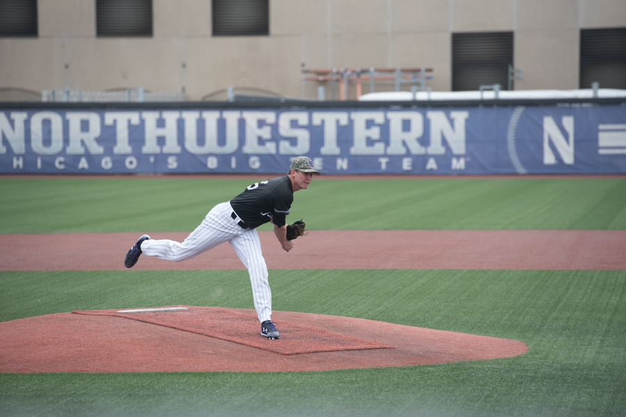 Hank Christie throws a pitch. The sophomore pitcher leads the team in games started with 13.