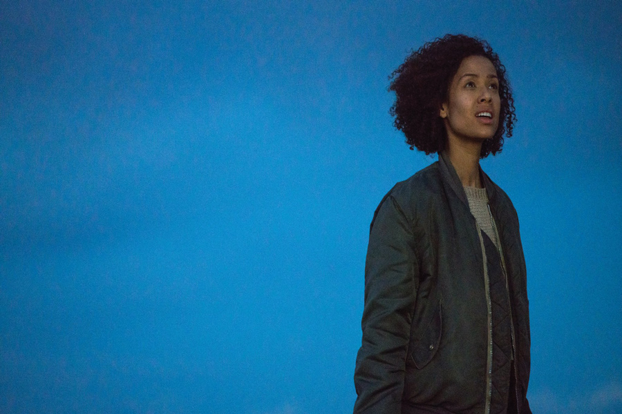 "Gugu Mbatha-Raw in ""Fast Color,"" co-written by Northwestern alum Jordan Horowitz and his wife, Julia Hart. The film will make its Chicago debut this Friday at the Chicago Critics Film Festival."