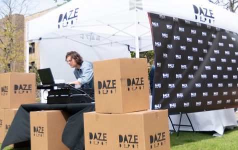 Daze Depot sets up in the fraternity quad. The Northwestern startup aims to provide summer storage at a more affordable price.