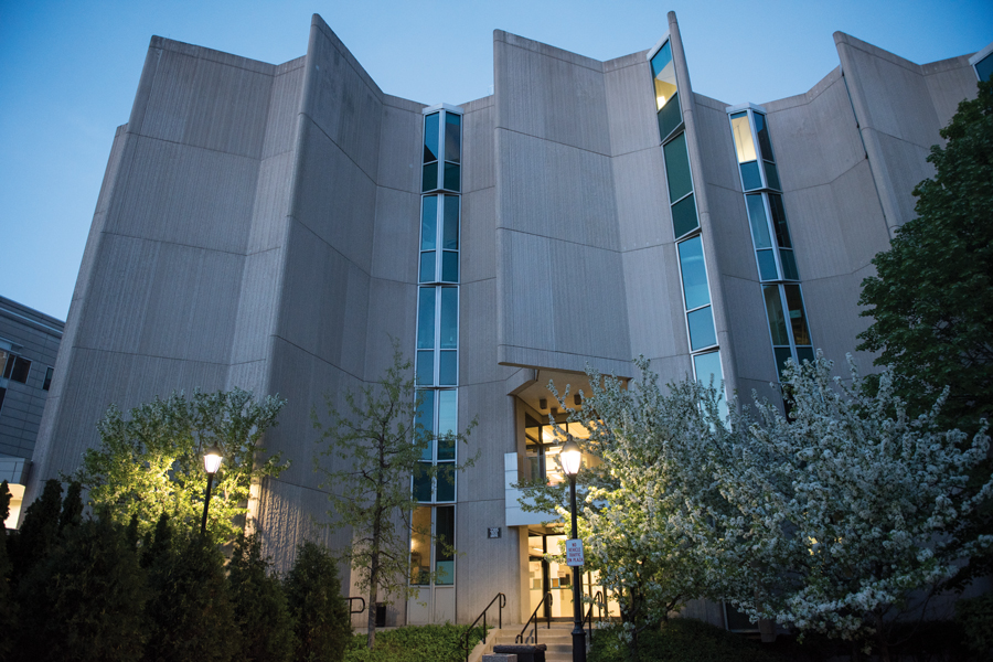 Hogan Biological Sciences Building, home of the biological sciences department. Biological sciences Prof. Richard Carthew will serve as the director of the NSF-Simons Center for Quantitative Biology.