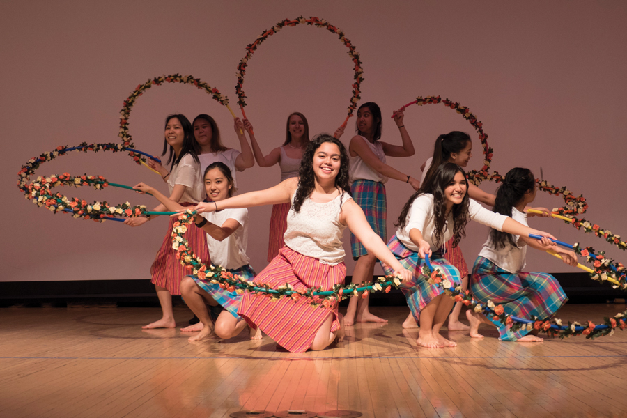 The Pinoy Show cast performs a traditional Filipino dance. The show was organized by Kaibigan, the Philippine Student Association.