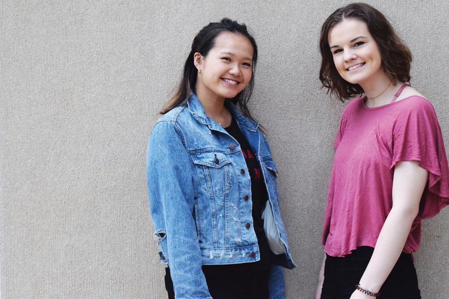 Bienen junior Tina Zheng (left) and Weinberg junior Carlie Cope. The roommates are starting a chapter of the National Alliance on Mental Illness at Northwestern.