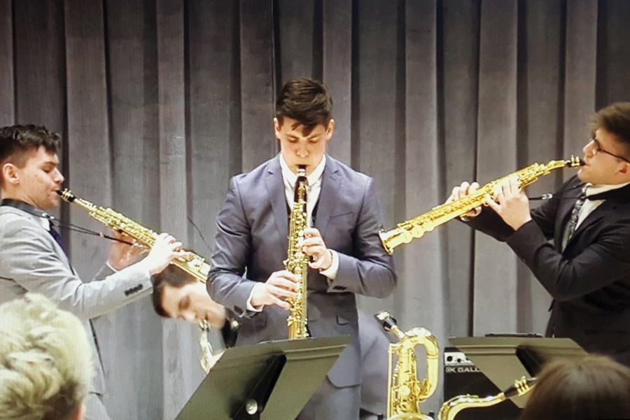 ~Nois performs at the M-Prize International Chamber Arts Competition in May. The group won second place in the open division.