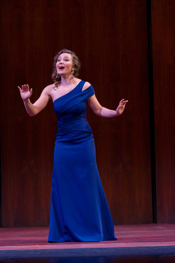 Madison Leonard performs at the Grand Finals concert in New York City. The Bienen alumna was named one of five winners of the Metropolitan Opera National Council Auditions on April 29.