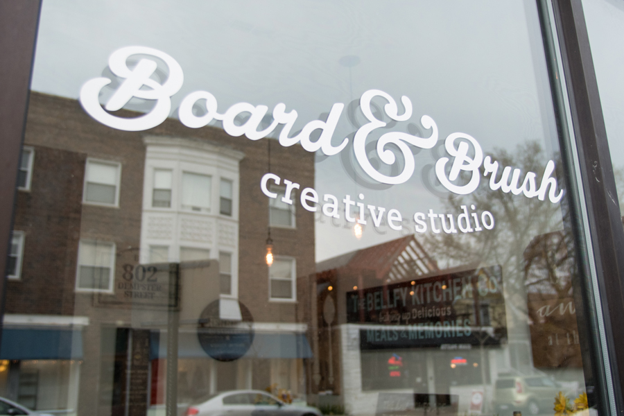 Board & Brush, 802 Dempster St. The wood sign creative studio opened Saturday and offers workshops for customers to make personalized wooden decor.