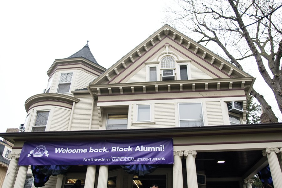 A sign above the Multicultural Center. Alumni and administrators discussed the Bursar's Office Takeover and black student experience at NU during a Thursday panel.