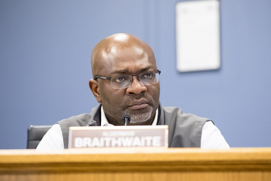 Ald.+Peter+Braithwaite+%282nd%29+attends+a+city+meeting.+Braithwaite+chairs+the+city%E2%80%99s+Alternatives+to+Arrest+committee+that+recommended+the+council+discuss+an+ordinance+requiring+the+city+to+expunge+law+enforcement+records+for+juveniles.+