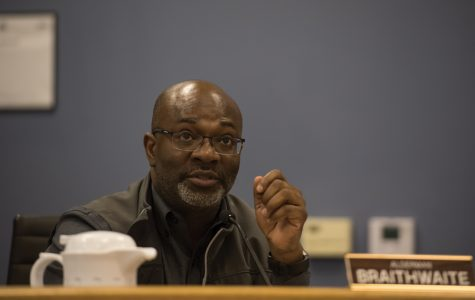 Ald. Peter Braithwaite (2nd) speaks at Monday's City Council meeting. The council unanimously approved an ordinance that allows for the automatic expungement of juvenile criminal records.
