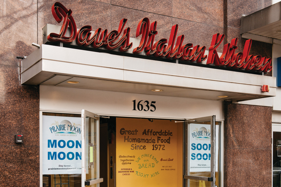 Prairie moon set to relocate to former home of dave s for Daves italian kitchen