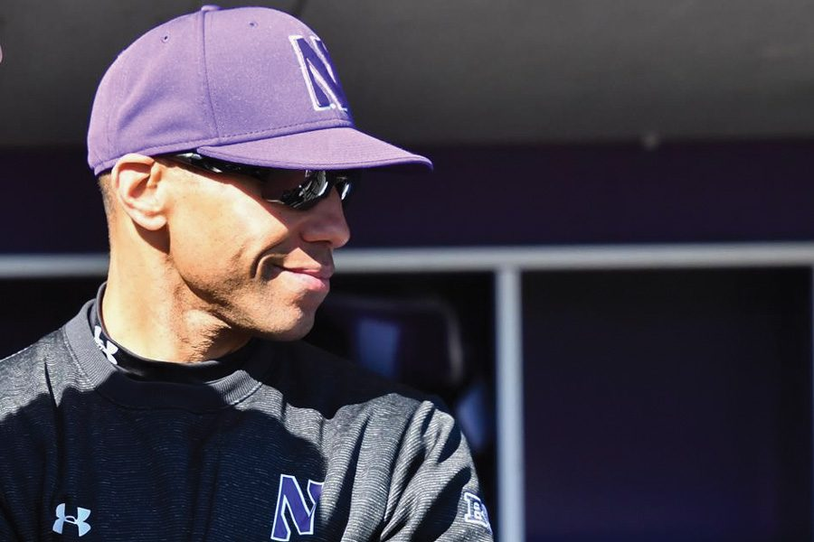 Spencer Allen looks out from the Miller Park dugout. Three years into his tenure, Allen said he is seeking to get more consistency out of his Wildcats.