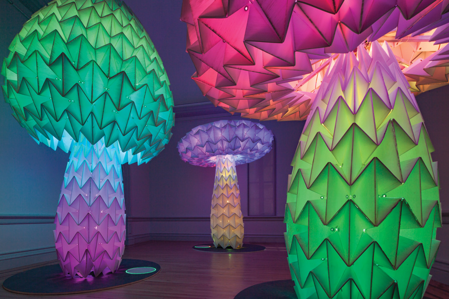 """Shrumen Lumen"" at the Smithsonian American Art Museum's Renwick Gallery is a part of the exhibition ""No Spectators: The Art of Burning Man."" Northwestern alum Bomani McClendon contributed to this project, which is on display from March 30 to Jan. 21, 2019."