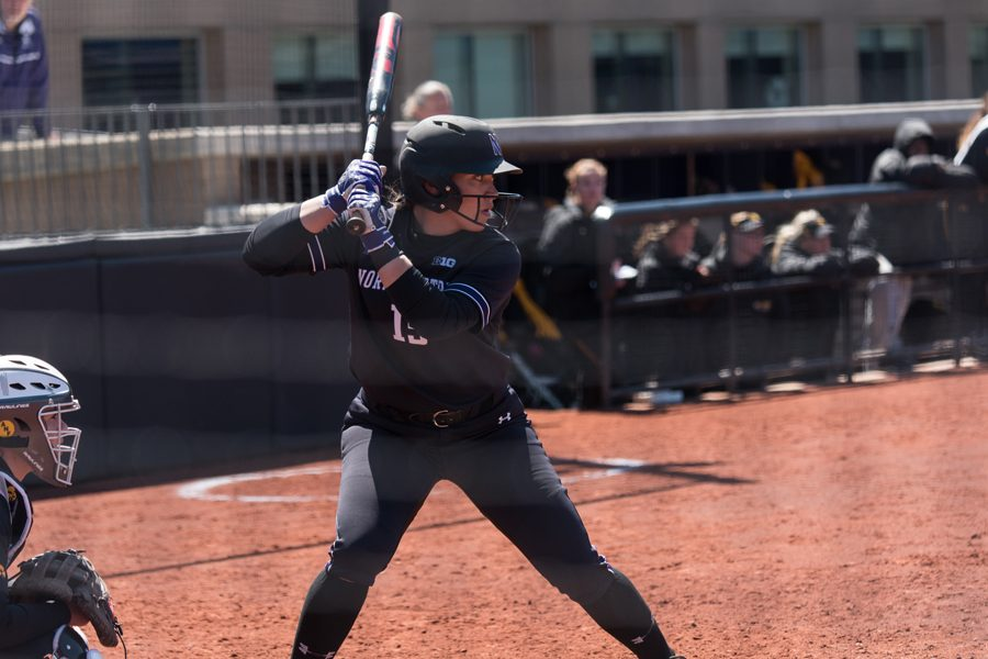 Sammy Nettling looks for a pitch to hit. The senior catcher drove in 5 runs in Northwestern's Big Ten Tournament run.